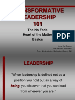 4-Transformative Leadership 101