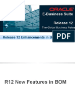 Oracle E Business Suite R12 BOM and WIP