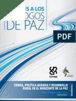 Tierra, Politica Agraria y Desarrollo Rural en El Horizonte de La Paz