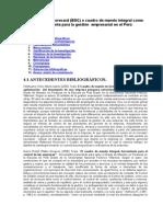 Balanced Scorecard Bsc o Cuadro Mando Integral Como Herramienta Gestion Empresarial Peru