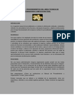 Manual de Procedimientos Del Area Tecnica de Acabadosen Confeccion Texil
