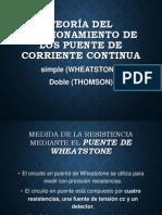 Wheatstone y Thomson