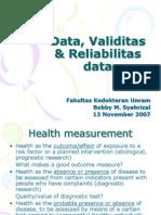 Data, Validitas & Reliabilitas Data induk mahosiswa
