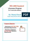 ISO 9001:2008 Awareness Traininig Program _construction