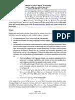 Parmenides Lecture Notes