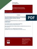 Journal Bisnis Dan Kewirausahaan Vol 1 January 2013