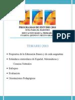 PROGRAMAS DE ESTUDIO DE 3° PERIODO