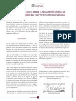 Reglamento General de Becas Del IPN