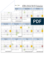CIPA Calendar 2014-2015