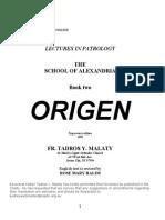 THE SCHOOL OF ALEXANDRIA - ORIGEN - Father Tadros Yacoub Malaty.pdf
