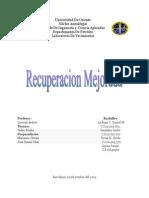 Informe de Recuperacion Mejorada