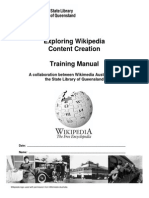 Wikipedia Training Manual