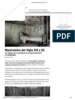 Noticia_ Manicomios Del Siglo XIX y XX