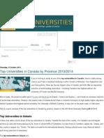 Top Universities in Canada by Province 2013_2014 _ Top Universities