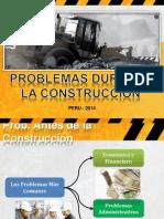 Problemas en La Construccion