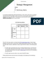 GE _ McKinsey Matrix