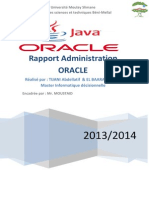 Rapport Administration ORACLE