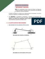 2 Análisis Estructural y Clasificación de Los Mecanismos