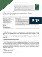 LUBE OIL COOLER Brass Tube Failure_technical Paper