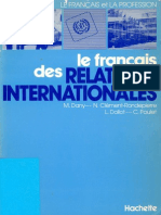 Le Francais Des Relations Internationales