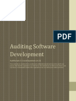 software development audit
