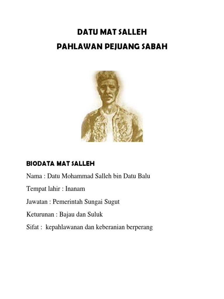 Datu Mat Salleh Docx Report