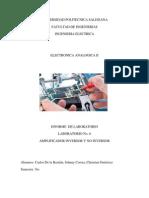 Informe Electronica Analogica II Amplificador Inversor No Inversor