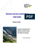 Electronic and Ionic Conductivity in Metal Oxides