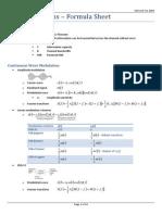 Elec3505 Formula Sheet
