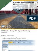 SAP SOLMAN Setup System Monitoring and Alerting