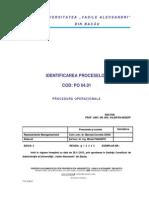 PO-04 01 Identificarea Proceselor Ed 03