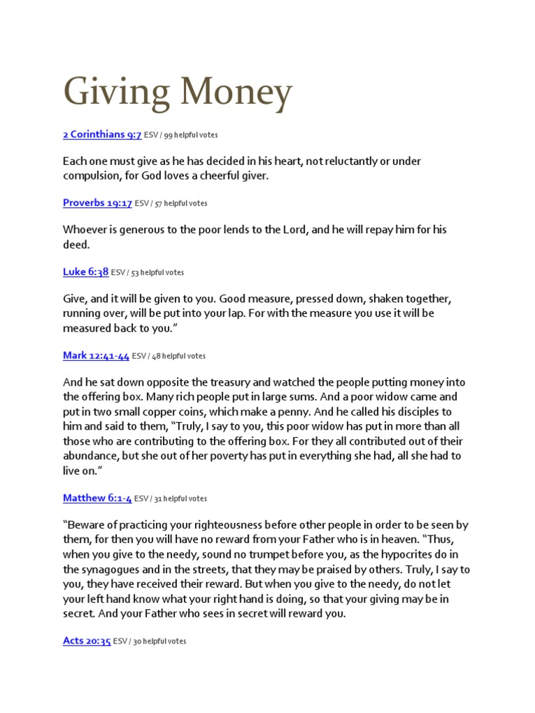 What Does the Bible Say About Lending Money   Book Of