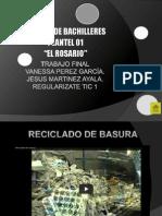 RECICLADO DE BASURA POWERPOINT