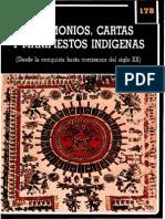Lienhardt, Martin - Testimonios y Manifiestos Indigenas