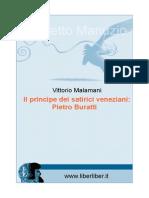 Principe Dei Satirici Veneziani (Il). Pietro Buratti