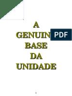 A Base Genuina da Unidade- Witness Lee