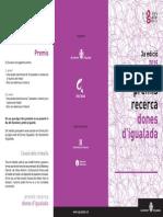 Premi Recerca Dones Igualada 2015