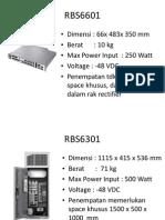 RBS Ericsson Power Technical Spec