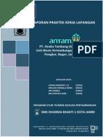 Laporan PKL PT Antam UBPE Pongkor - Johan Edwart