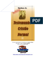 Testemunho Cristão Normal- Watchman Nee