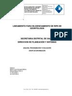Lineamiento CodificaciónRIPS Salud Oral