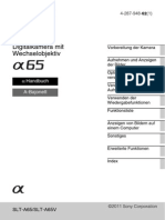 Sony Alpha 65 Benutzerhandbuch (de)