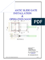 Pneumatic Slide Gate