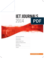 IET Journals 2014 Catalogue 2014