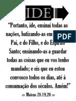 Cartazes Missionários Para Imprimir