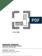 Katalog wystwy Wartość Dodana. Światowy design z Polski