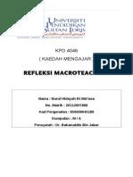 refleksi macroteaching CONTOH 1
