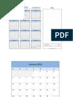 2014 Calendar With Event Planner v2