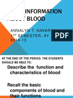 Basic Information About Blood (2013-14)