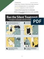 silent treatment  - life skills class